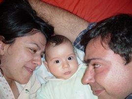 eu e os meus papas!!! Ao acordar :)