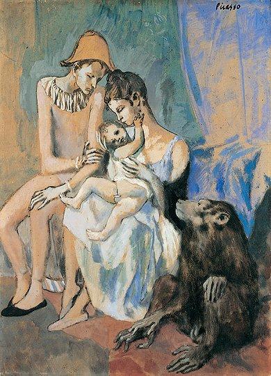 Famiglia di acrobati con scimmia,1905 di Picasso