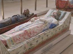 Tumba de Ricardo Corazón de León y su madre Leonor de Aquitania