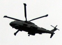 culdrose helicopter using the work for hover practice