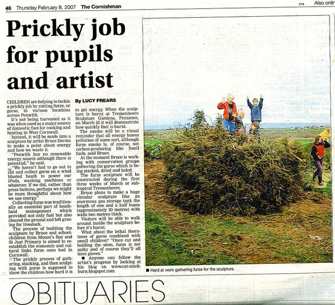 article from the cornishman