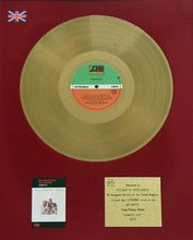 COMING OUT/BRITISH BPI GOLD LP AWARD 1977