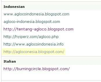 screenshot Agloconesia