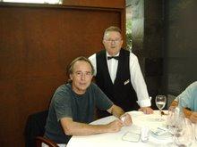 Con Serrat en el Hotel Alfa Aeropuerto