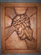 Divino Rostro tallado en madera