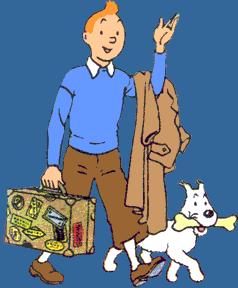 Tintin & Snowy.