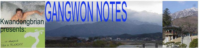 gangwon notes