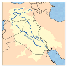 Map of Euphrates