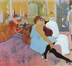 """Salon en la calle de """"Moulins"""""""