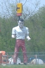 "Our second ""Muffler Man"" Giant"