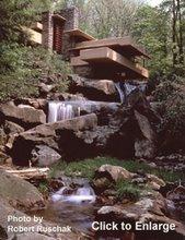 滝の下からの落水荘
