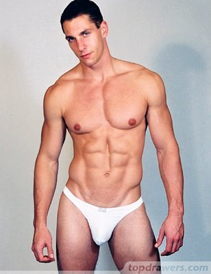 Male hard body in underwear from Topdrawers men's underwear