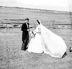 Photo of Jacquline Kennedy's Wedding Dress