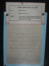 Rare letters on Display