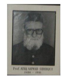Prof. Ateeq Ahmad Siddiqi