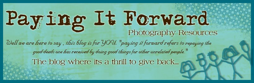 PAY IT FORWARD PHOTOGRAPHY RESOURCES