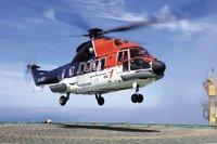 L'arrivée en hélicoptère