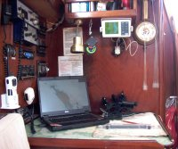 Yacht Keturah navigation table
