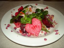 Daikon and Beet Heart Salad