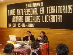 SEMINARIO MINAS ANTIPERSONALES EN TERRITORIOS INDIGENAS