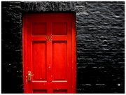 Red Door Black Wall