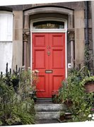 Red Door Taupe Trim