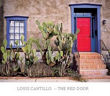 Red Door Blue Trim