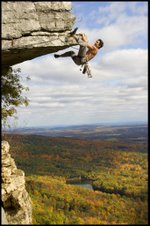 Bill Pierson on the Dangler - Gunks