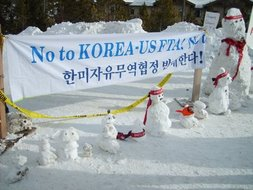 No Kor-US FTA!