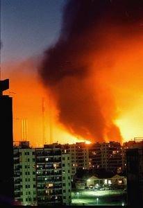 Belgrado ardiendo...