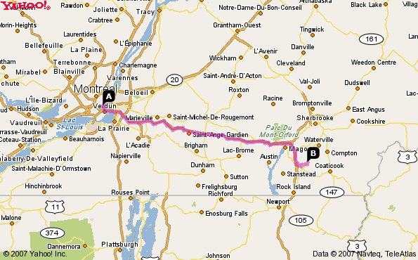 Map: Directions to the Event