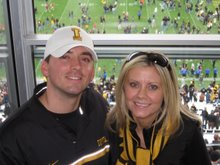 Nicole, Travis and Iowa Football