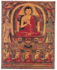 Buda con 5 tathagathas