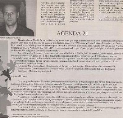 Reportagem sobre Agenda 21