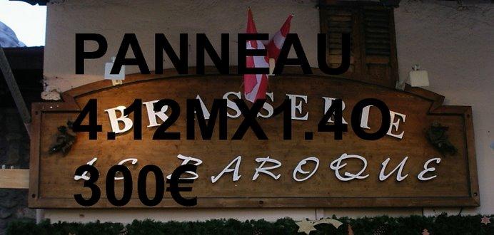 FOND DE PANNEAUX ENSEIGNE