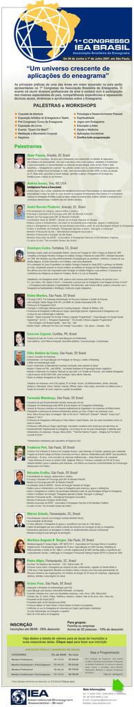 1er. Congreso de Eneagrama - IEA Brasil Sao Paulo 29/06 al 01/07/07