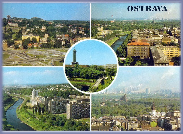Ostrava etwa zwischen 1960 und 1975