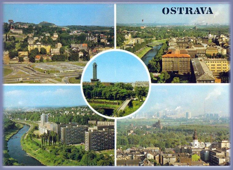 Ostrava etwa zwischen 1960 und 1975