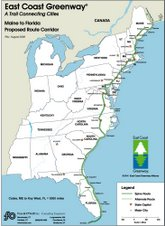 East Coast Greenway Map