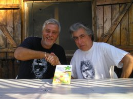 Con Jordi Sierra i Fabra