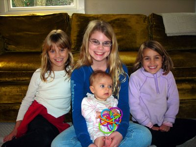 My granddaughters (Emma, Kathryn, Annie), my daughter Kelly in the middle