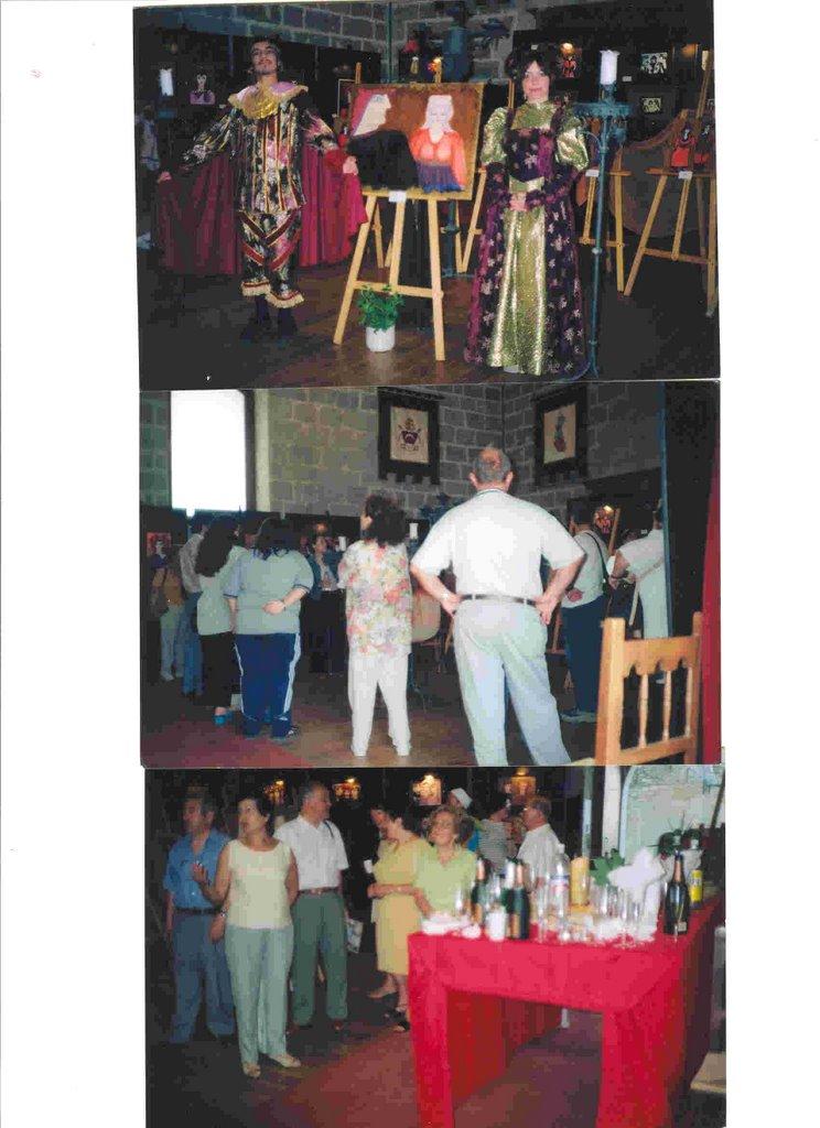 """Inaguración de mi exposición, """"Gente de la Atlántida"""" 2002"""