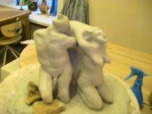 """Escultura del grupo escultórico.  """"Eros y Tanathos""""."""