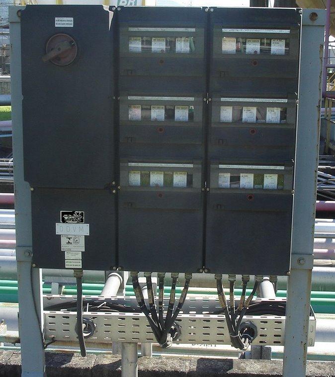 """Painel de distribuição do tipo """"Segurança aumentada"""": Ex de IIC T6 EPL Gb."""