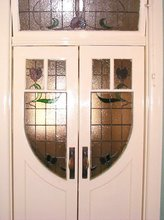 Hallway door panels to match transom & top panels