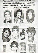 Desaparecidos Palacio de Justicia
