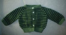 Seamless Raglan Baby Sweater