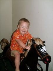Chase loves horses