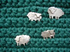 grazing on a crocheted field