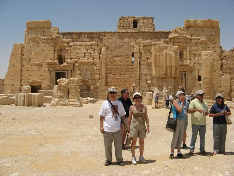 ...........En Palmyra pasando calor